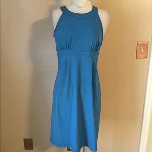 Athleta Blue teal short dress built in bra Sz 2 SM